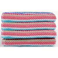 CHT Home Soft Cotton Multi Purpose Kitchen/Hand Towels for Regular Use- (Pack of 4Pc, 40x60 cm), Multi