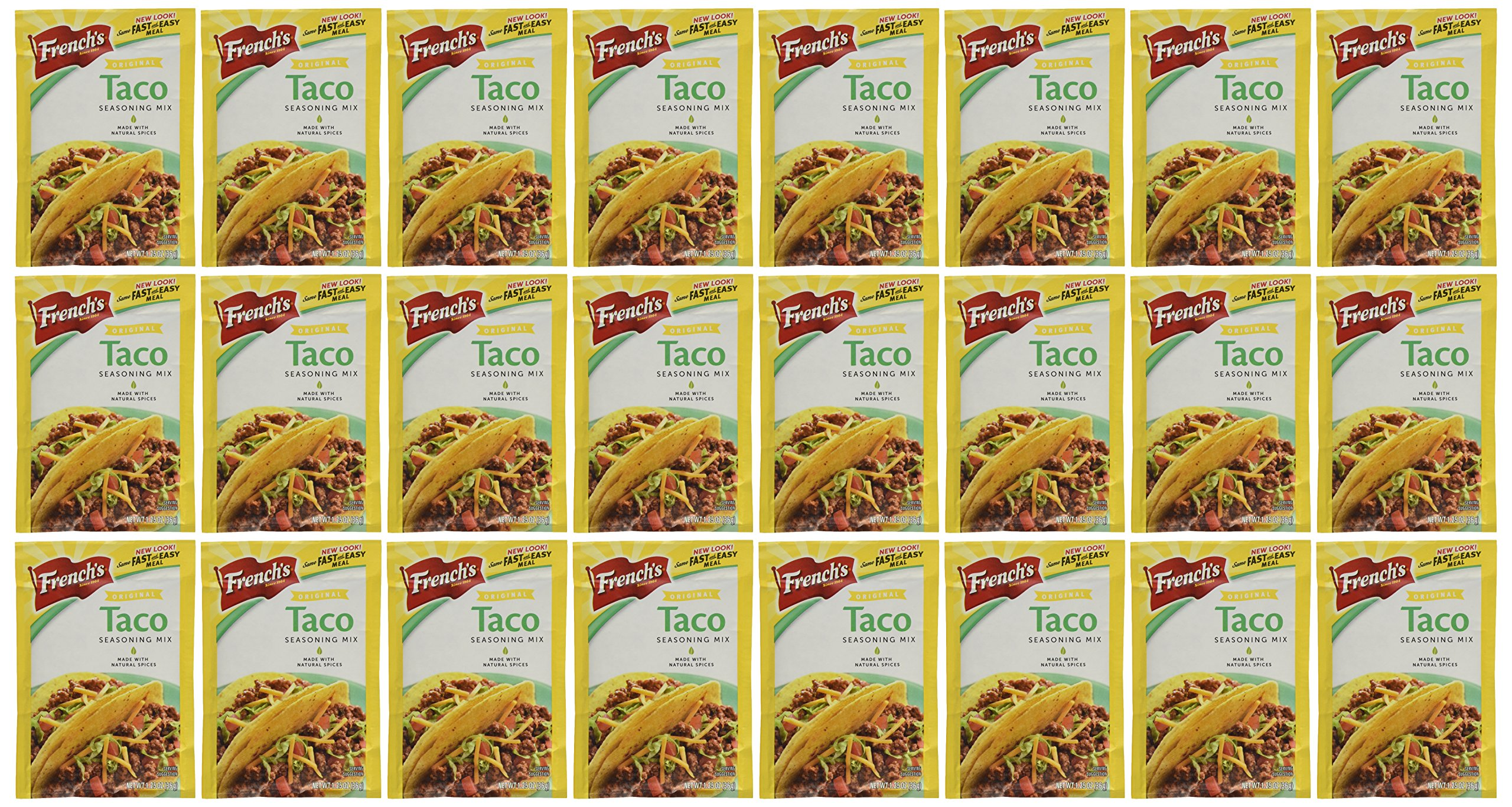 French's Seasoning Mix, Taco, 1.25-Ounce Packets (Pack of 24)