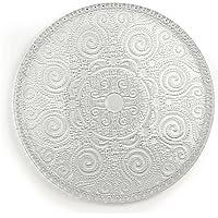 Excelsa Arabesque Plato de Servir, Cristal, Transparente, 31x