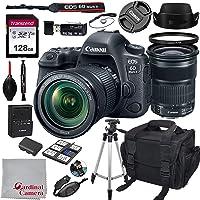 Canon EOS 6D Mark II + 24-105mm f/3.5-5.6 is STM Kit + 128GB SD Card + Case (17pc Bundle)