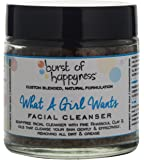 Burst Of Happyness What A Girl Wants Facial Cleanser, with Rhassoul Clay for Oily skin and Combination skin100 g
