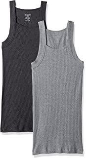X 2 ist 041527 IST Evolve Mens Cotton Comfort Square Cut Tank Multi Pack Underwear EVOLVE By 2 X