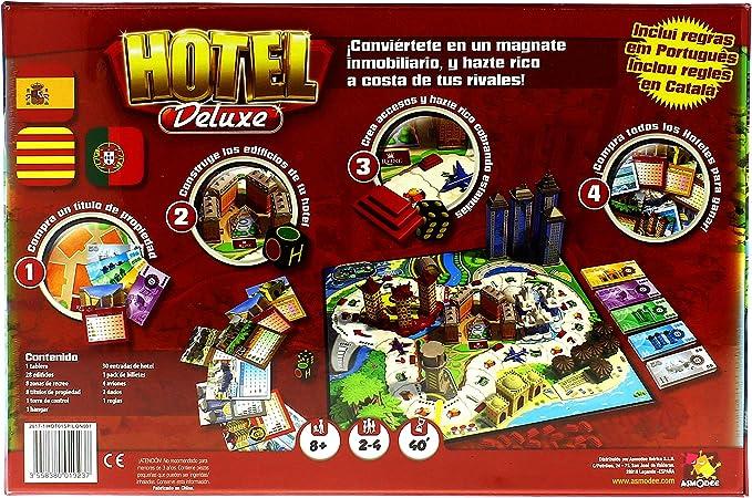 Asmodee- Hotel Deluxe - Español, Color, 40.1 x 26.7 x 8.4 (HOT01ES ...