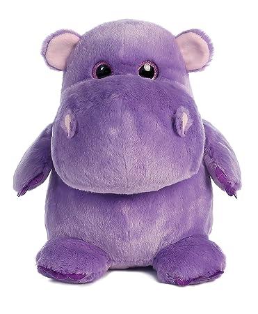 Amazon Com Aurora World Hunk Of Love Hippo Plush Purple Small