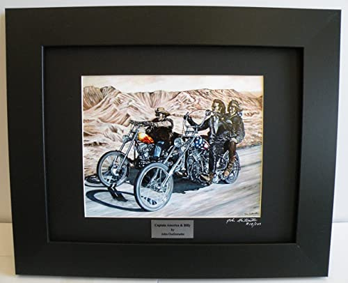 Easy Rider Biker Wall Art Limited Edition Custom Framed Motorcycle Art Print