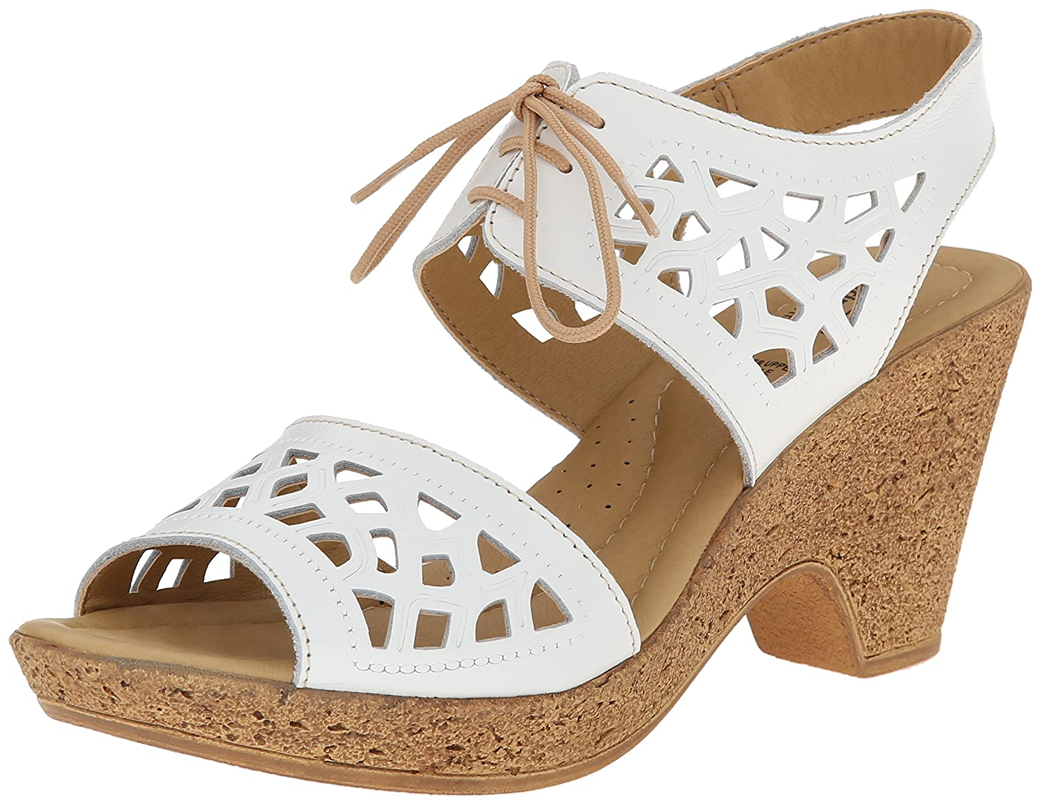 Spring Step Women's Lamay Dress Sandal B00PBU6G3E 39 M EU / 8.5 B(M) US|White