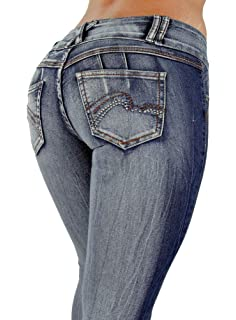 Amazon.com: slch SVIN para mujer jeans ajustados de talle ...