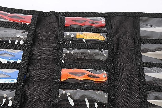 Zonfer 1pc Cuchillo Plegable Bolsa De Nylon De La Envoltura De Nylon Oxford Tela Bolsa De Bolsillo Bolsa De Almacenamiento Multi Funda para Multiherramientas
