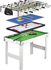 Giochi da tavolo 4 in 1 (biliardo, ping pong, air hockey e calcio balilla). tutto questo in un unico mobile! Finalmente si gioca alla vecchia maniera.