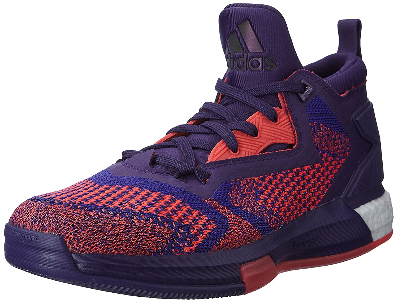 4d4d97dea788b ... promo code for adidas mens d lillard 2 boost primeknit purple and red  basketball shoes 11