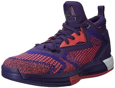 big sale 39811 c58e0 adidas Performance Homme Baskets Lacets Basket-Ball Sport - Violet - 50 2 3