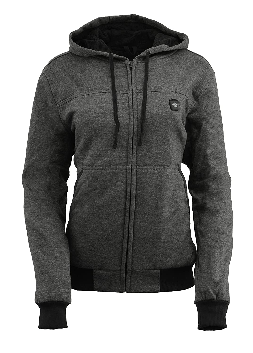 Milwaukee Leather Women's Zipper Front Heated Hoodie (Black, S) Milwaukee Performance MPL2713-BLACK-SM
