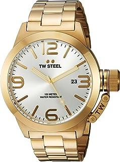 TW Steel Mens CB82 Analog Display Quartz Yellow Watch