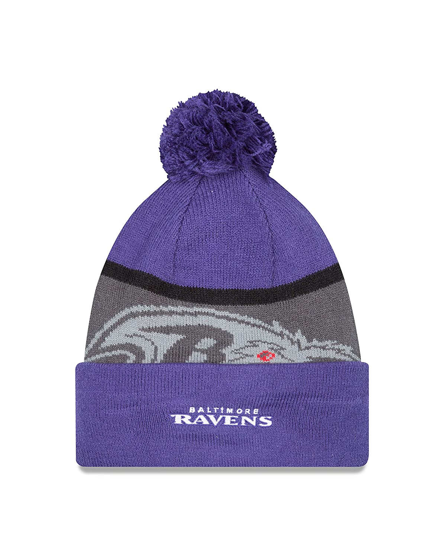 Amazon.com   NFL Baltimore Ravens Gold Collection Team Color Knit Beanie 6dd6e6284