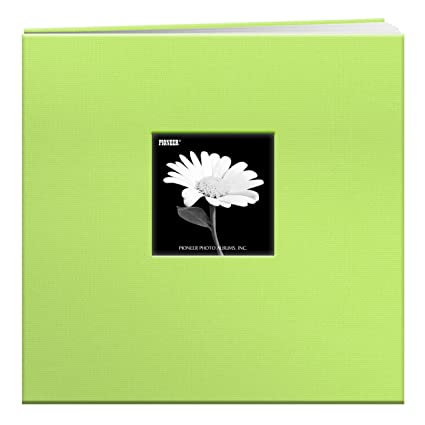 Sky Blue Pioneer 8-Inch by 8-Inch Postbound Fabric Frame Cover Memory Book