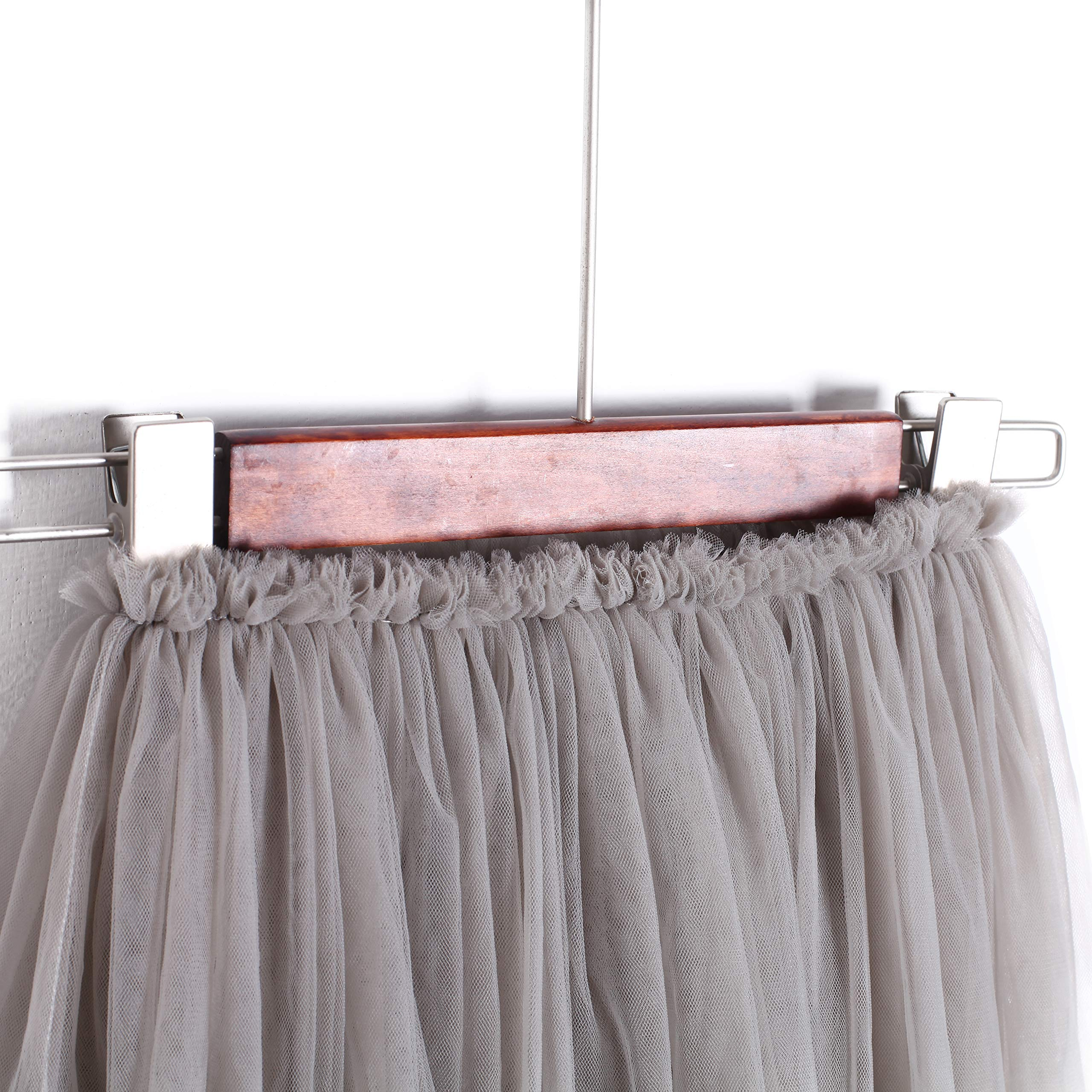 Flofallzique Tulle Tutu Girls Skirts for 1-12 Years Old Dancing Party Toddler Clothes(6, Gray) by Flofallzique (Image #3)