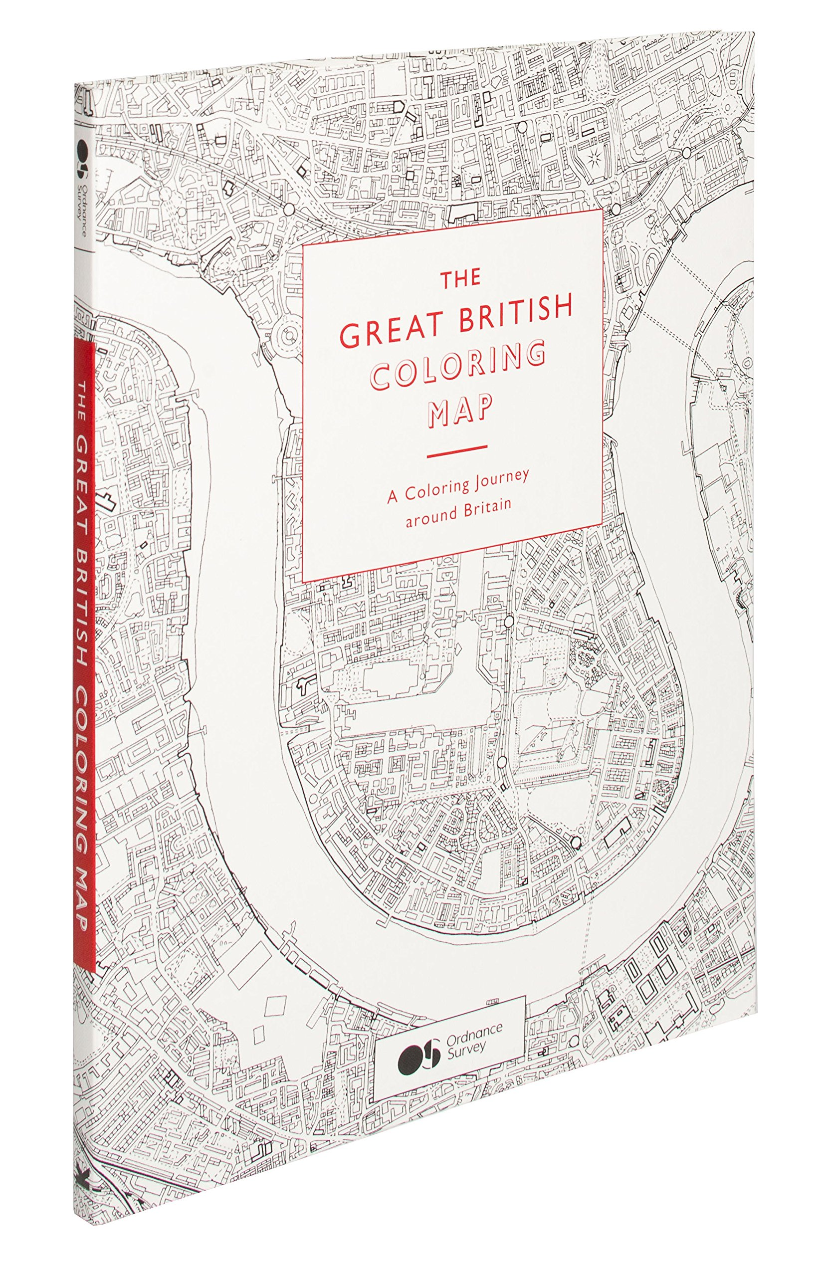 Amazon.com: The Great British Coloring Map: A coloring journey ...