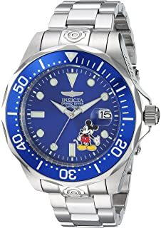 Invicta Mens Disney Limited Edition Automatic-self-Wind Diving Watch with Stainless-Steel