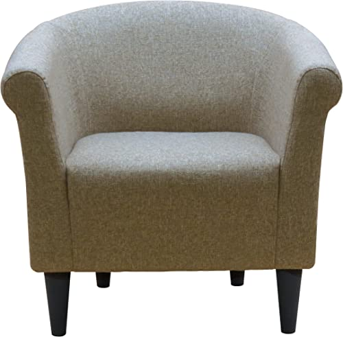 Zipcode Design Liam Barrel Chair, Living Room Chair Notion Light Brown