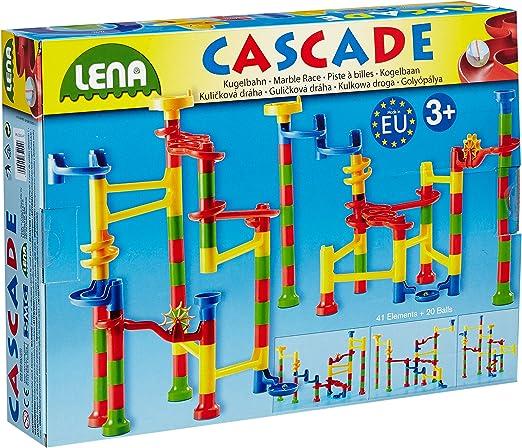Lena 65202 Cascade Kugelbahn groß, Murmelbahn zum
