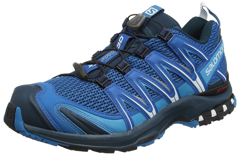 Salomon XA Pro 3D, Calzado de Trail Running para Hombre 46 2/3 EU|Azul (Mykonos Blue/Blue Reflecting Pond/White)