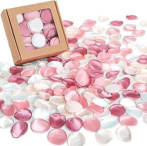 400Pcs Silk Rose Petals for Wedding Decorations, Blush Pink Flower Petals for Centerpieces Reception Tables Rustic Decor Flower Girl Scatter for Aisle Runner,Bridal Shower