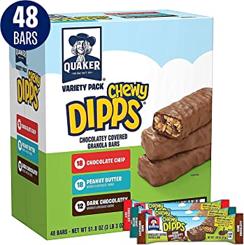 48-Count Quaker Oats Quaker Chewy Dipps Granola Bar Variety Pack