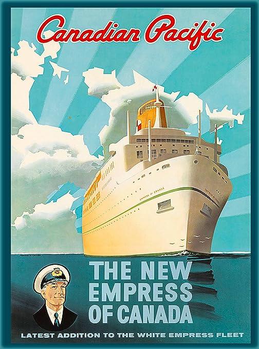 Amazon.com: Canadian Pacific el Anuncio de viaje Nueva ...