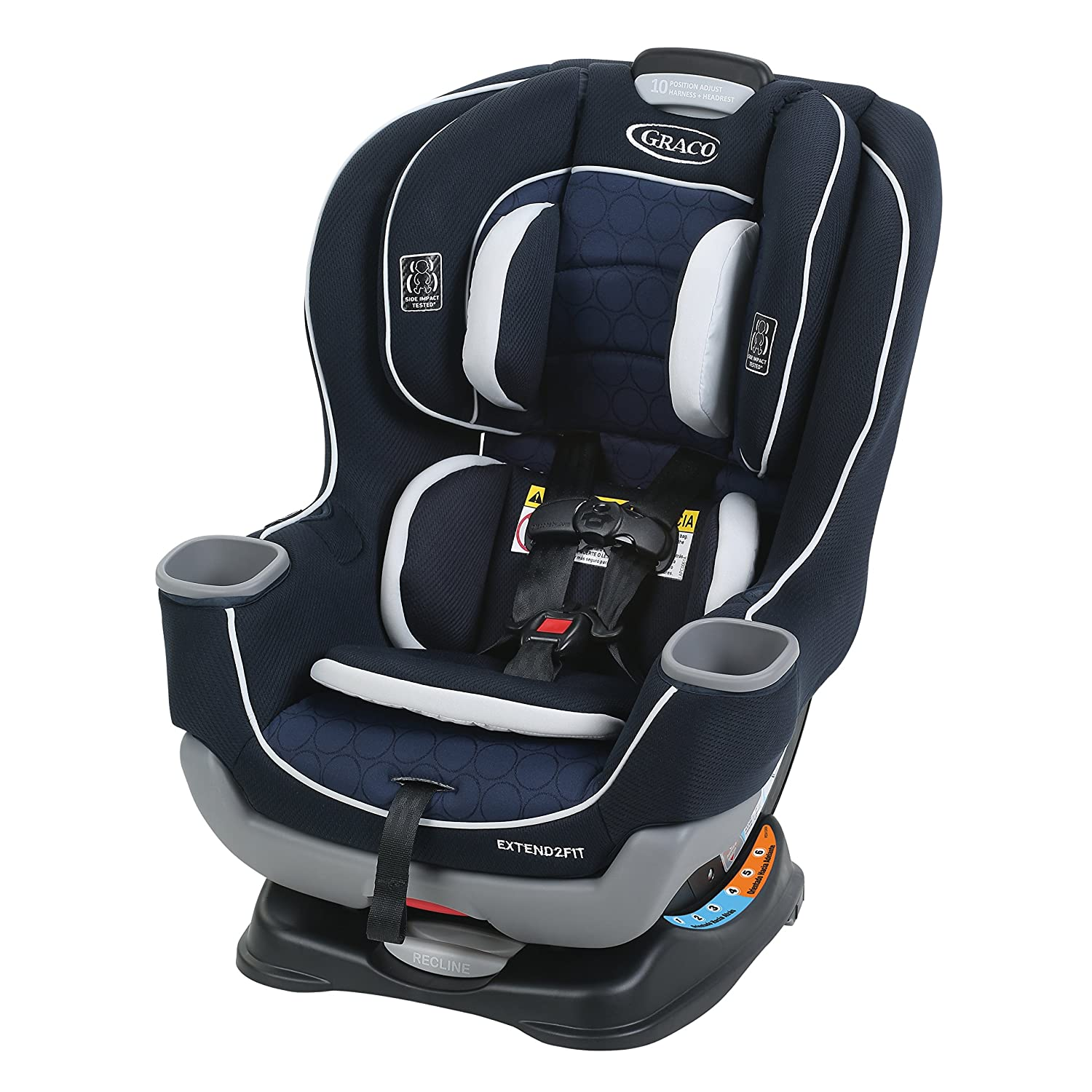 Graco Extend2Fit Convertible Car Seat, Valor 2017346