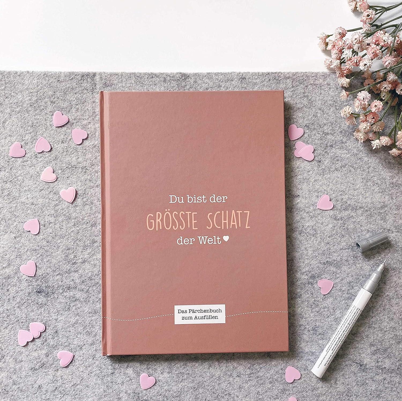 dolce idea regalo per il ragazzo o la ragazza dichiarazione d/'amore per il partner Cupcakes /& Kisses lingua italiana non garantita libro dei ricordi per coppie da compilare