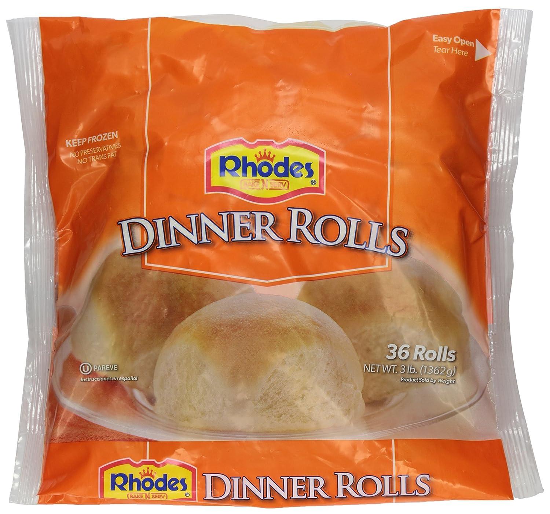 Rhodes Bake N Serv White Dinner Rolls 36 Rolls Frozen Amazon