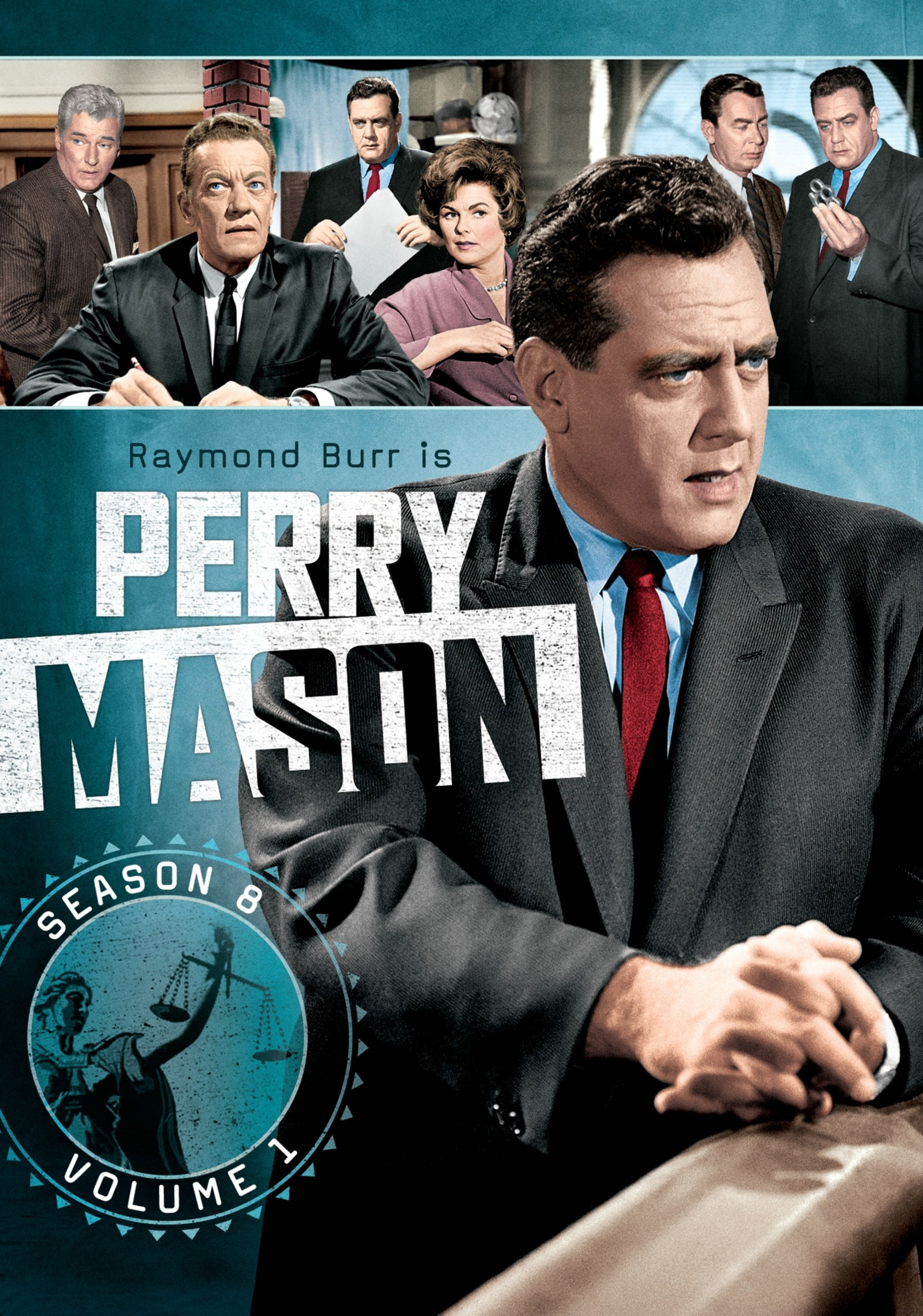 DVD : Perry Mason: Season 8 Volume 1 (Black & White, Full Frame, Boxed Set, 4 Disc)