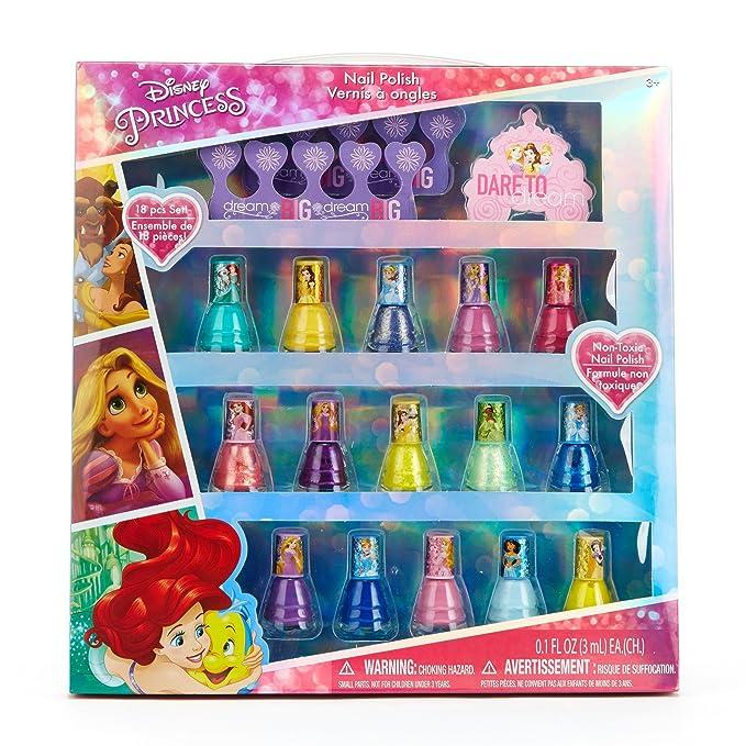 Amazon.com: Townley Girl Disney Princess Peel-Off Nail Polish Gift ...