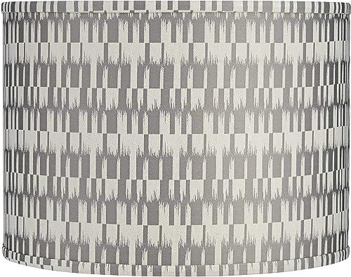 Gray and Cream Drum Lamp Shade 15x15x11 Spider – Springcrest