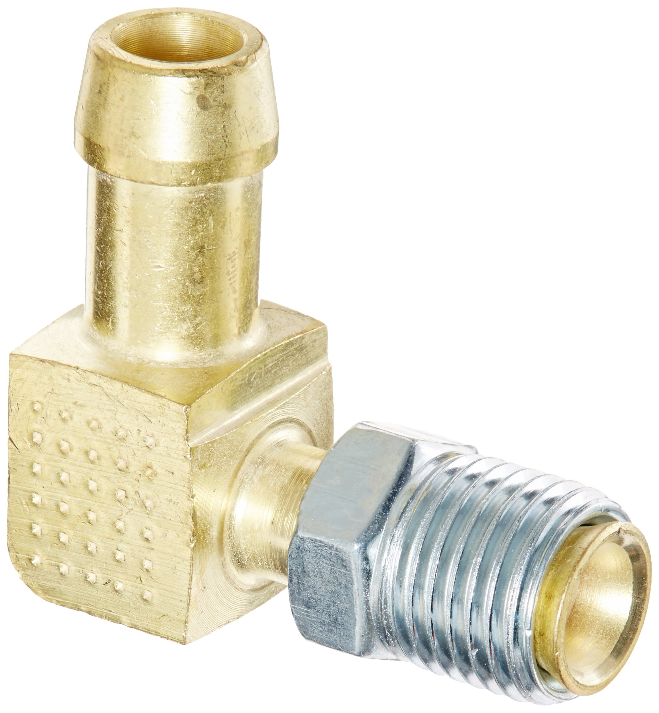 Edelmann 822560 Brass 5/16'' Inverted Flare X 3/8'' Hose 90 Degree Elbow Fitting by Edelmann