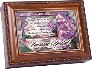 Cottage Garden Someone Special Woodgrain Music Box/Jewelry Box Plays Friend In Jesus