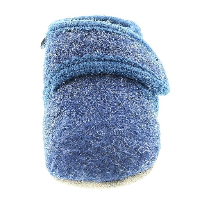 Celavi Bébé Bottillons Unisexe Pour La Laine, 100% Laine, Taille: 27/28, Couleur: Bleu, 5712