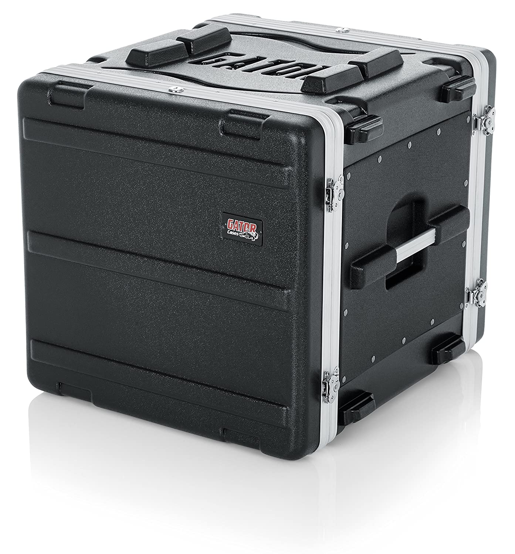 Gator Cases Lightweight Molded 6U Rack Case with Heavy Duty Latches; Shallow 14.25 depth, 6U (GR-6S)
