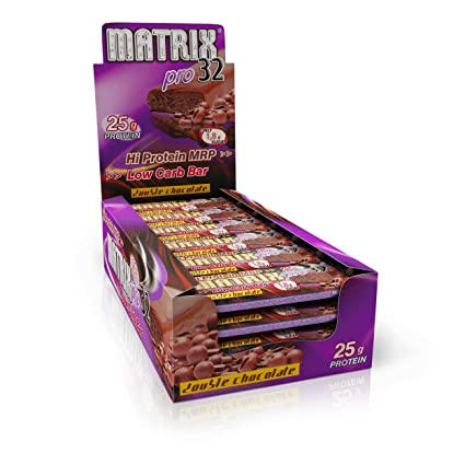 Olimp Sport Nutrition Matrix Pro 32 Proteína Batido, Sabor Doble Chocolate Negro - 20 Unidades