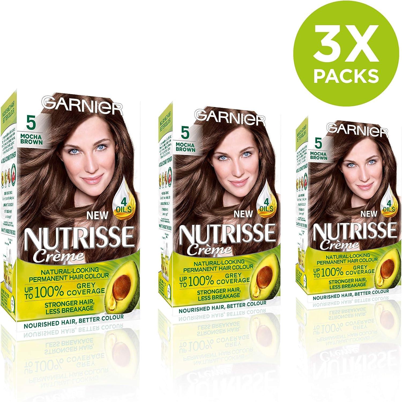 Garnier Nutrisse 5 - Tinte para el cabello permanente, Brown ...