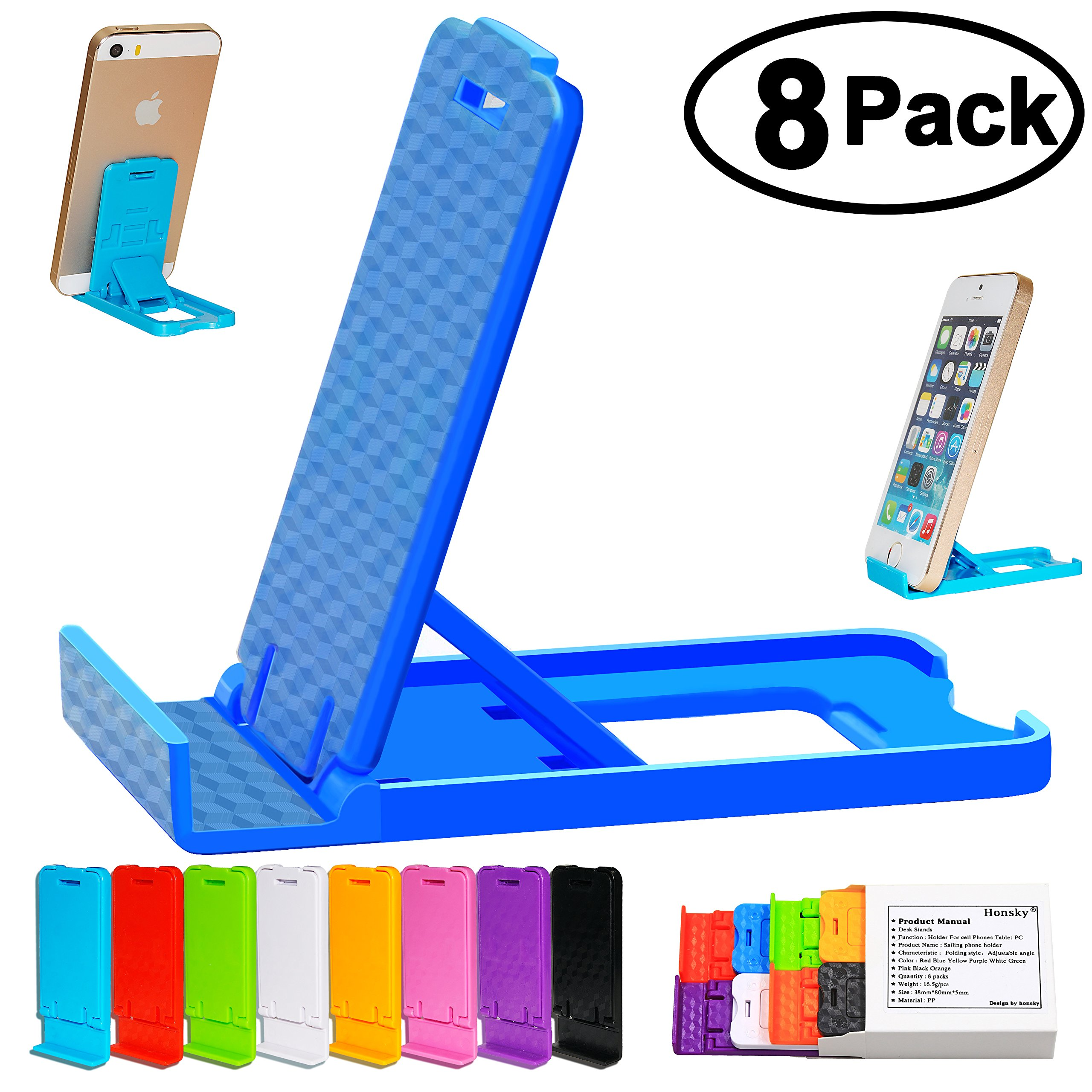 Honsky Multi-Angle Adjustable Foldable Plastic Mobile Stand For Apple Iphone .. 14