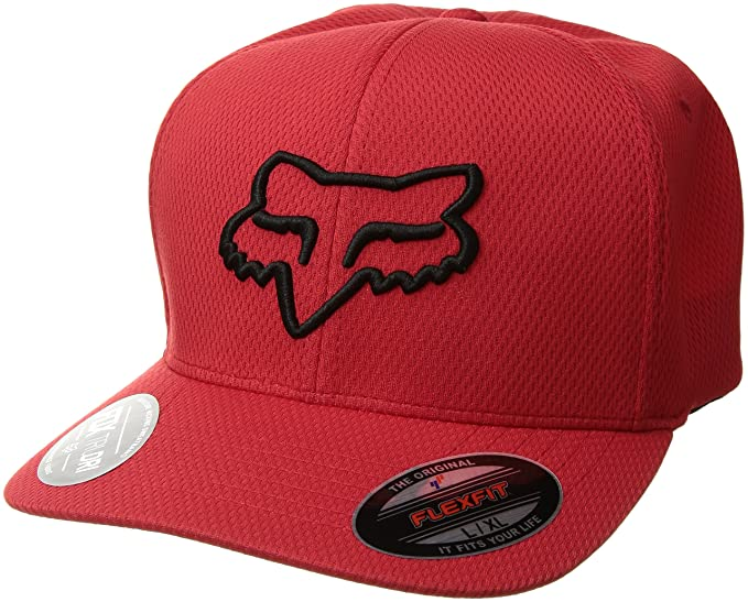 11f35dd0879b5 Fox Head Men s s Lithotype Flexfit Hat Baseball Cap  Amazon.co.uk  Clothing