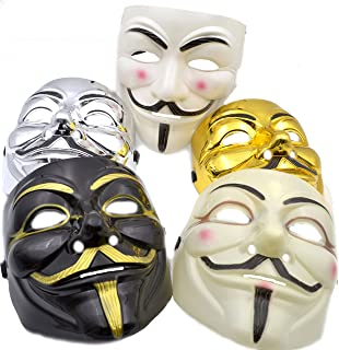 V for Vendetta Mask [5 PACK] Colors as shown - Great for a 2018