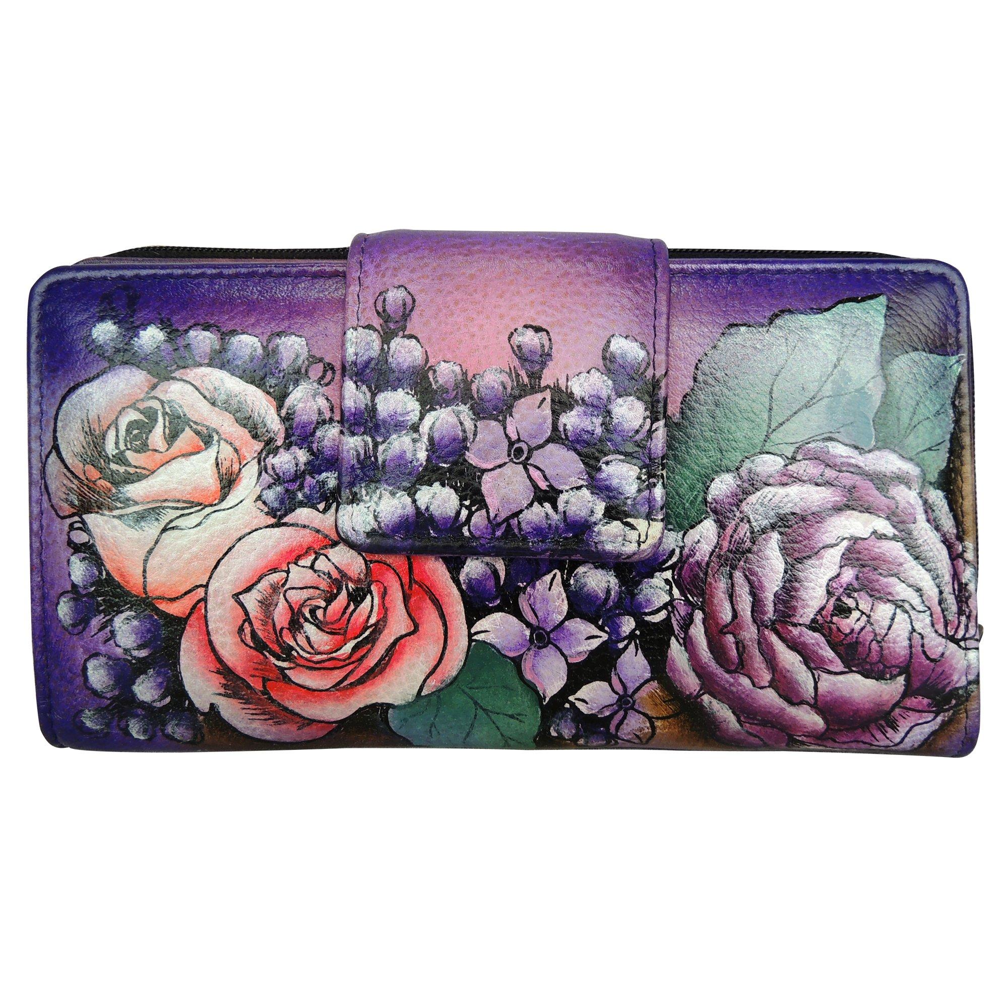 Anuschka Two Fold Organizer Wallet LL, Lush Lilac, One Size
