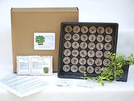 Elegant Culinary Herb DIY Garden Starter Kit   Learn How To Grow Home Grown Herbs