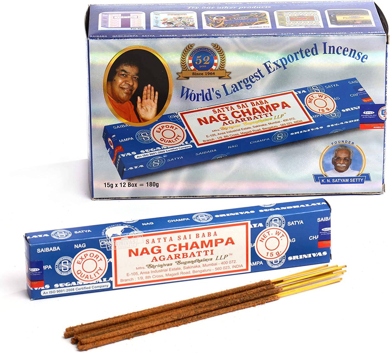 Details about  /Satya Sai Baba Nag Champa Persian Musk Agarbatti Aroma Insence Sticks 180G