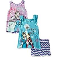 Disney - Conjunto de 3 Piezas de Pantalones Cortos de Frozen para niñas pequeñas