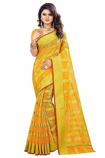 71288e78ba Dealsure Women's Multicolor Banarasi Saree with Blouse Piece: Amazon.in:  Clothing & Accessories