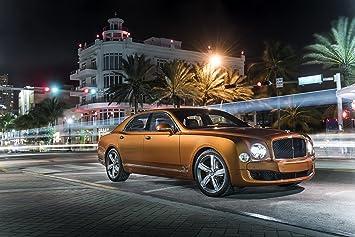 Amazon.com: Bentley Mulsanne Speed (2015) Car Art Poster Print on 10 ...