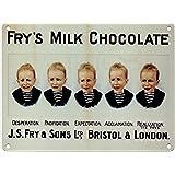 Frys 5 Boys Chocolate Vintage Metal Advertising Sign 3